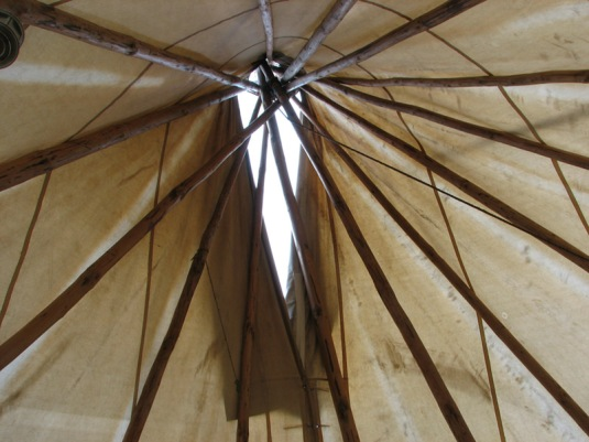 Inside a Tipee