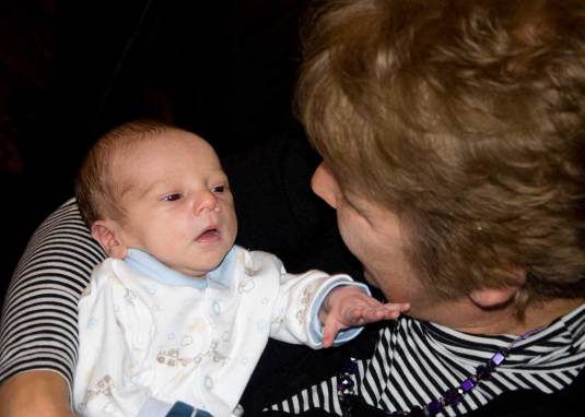 photos to treasure forever. Charlie with his nana, me